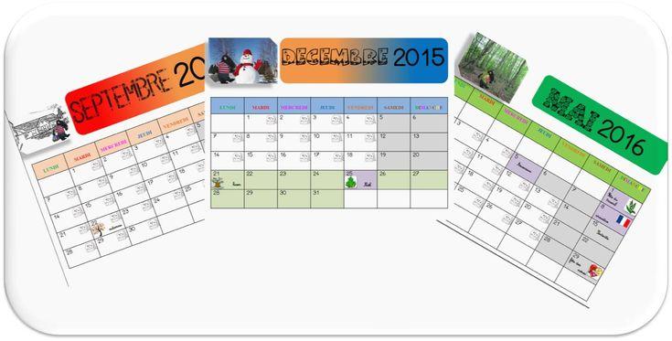calendrier du loup 2015 2016 zone A et B et Belgique http://www.laclassedetibiscuit.fr/le-calendrier-du-loup-2015-2016-suite-a118289668