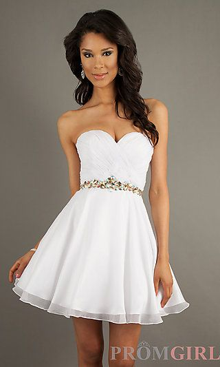 Strapless Party Dress by Alyce 3547 at PromGirl.com #graduation #grad #grad14
