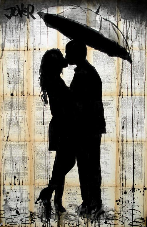 "Saatchi Online Artist: Loui Jover; Pen and Ink, 2013, Drawing ""rain lovers"""