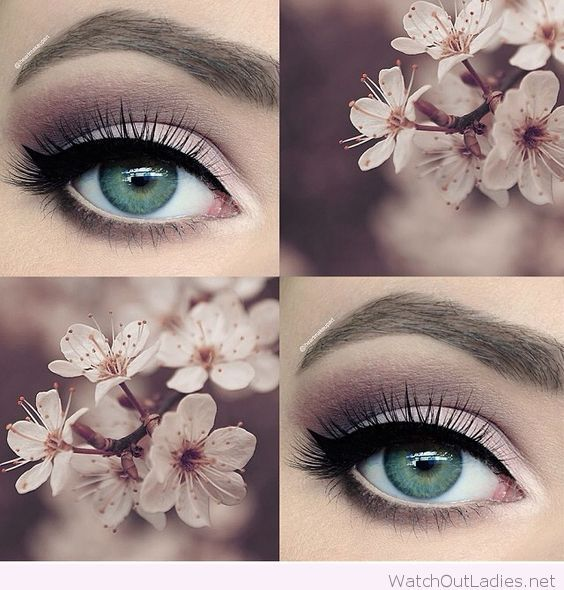 Amazing pale pink and plum smokey eye makeup for wedding PANDORA Jewelry More…