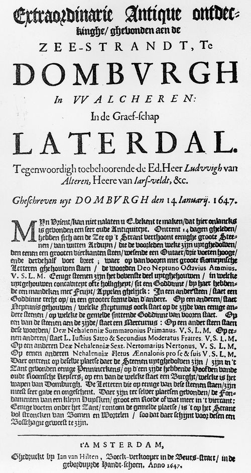 Nehalenniatempel - Nehalennia gered in Domburg