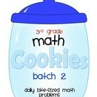 3rd Grade Math Cookies Bite-Sized Math Problems Common Core Aligned-Batch 2