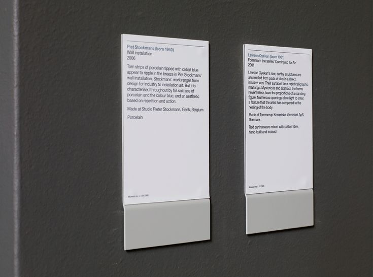 Wall mounted labels