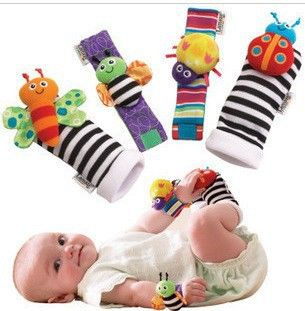 Cheap garden light, Buy Quality toy stuffed directly from China baby toys free shipping Suppliers:candice guo! New arrival baby rattle baby toys Garden Bug Wrist Rattle 10pcs+Foot Socks10pcs= 20pcs&nb