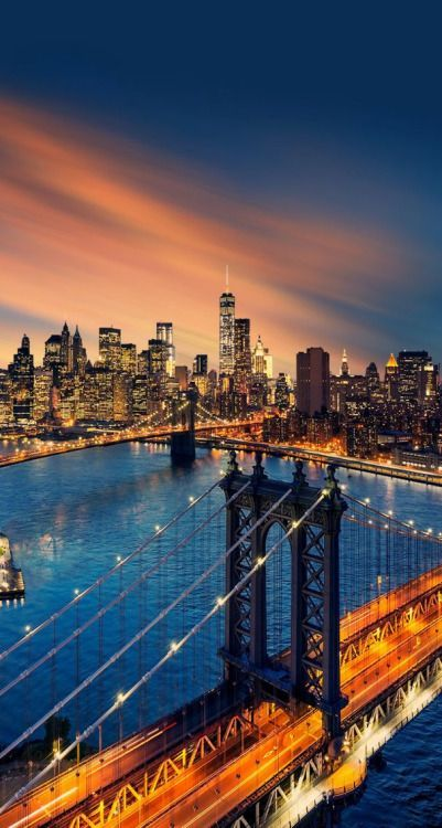 New York City, Manhattan Bridge, Brooklyn Bridge