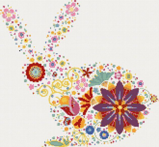 Modern bunny cross stitch kit,pattern   Yiotas XStitch
