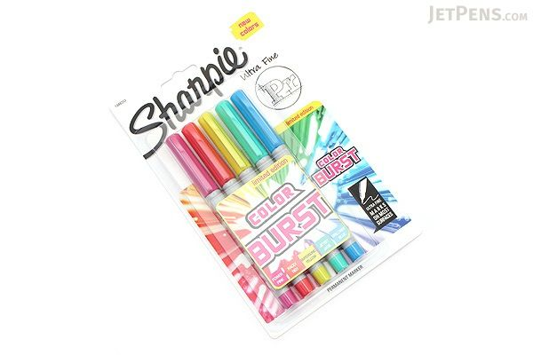 Sharpie Color Burst Permanent Marker - Ultra Fine Point - 5 Color Set - JetPens.com
