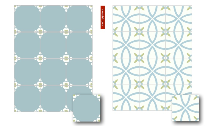 cementgebonden tegels 20x20 cm | ook mogelijk in eigen kleurstelling | mozaiek utrecht