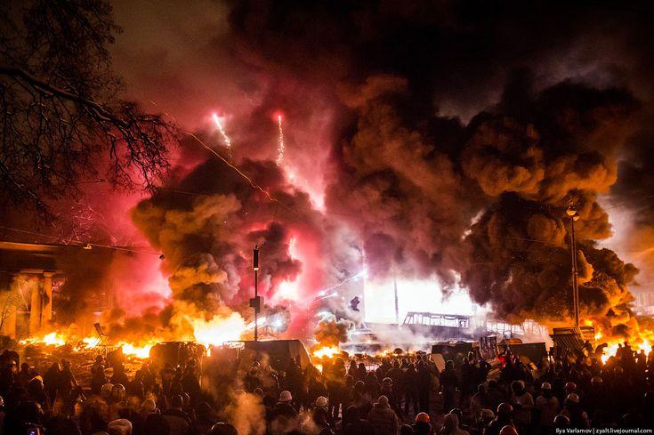 behind the barricades at the #Euromaidan uprising in Kiev, Ukraine.
