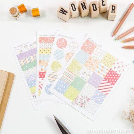 """Adhesivos de papel para scrapbooking """"My memory"""""""