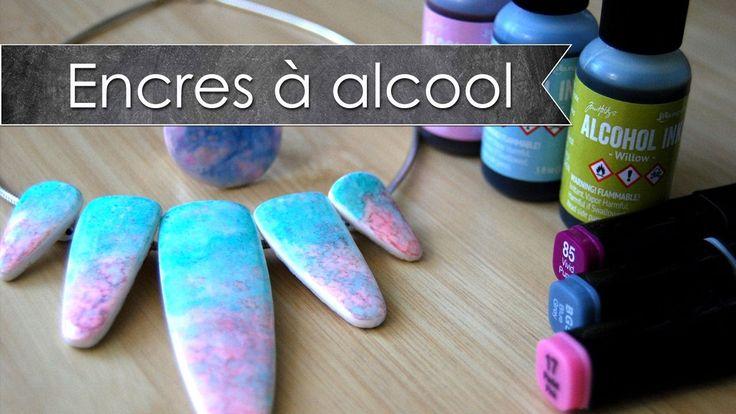 Tuto fimo/polymère encres et feutres à alcool