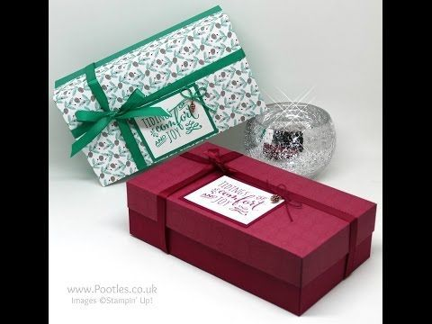 Pootles Advent Countdown 2016 #16 Presents & Pinecones Large Lidded Box