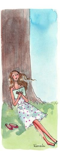 Nap under a tree with your favorite book in your hands....serenity........ My Little Paris by Kanako