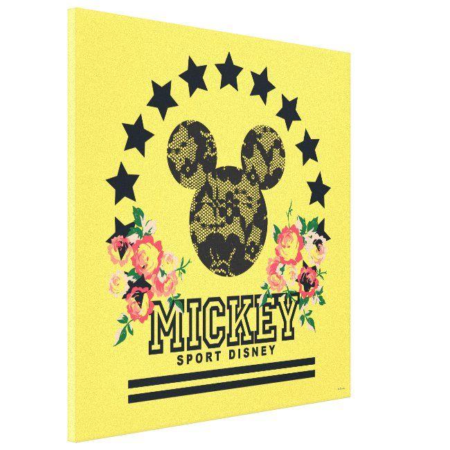 Trendy Mickey Athletic Canvas Print Zazzle Com Canvas Prints Mickey Canvas