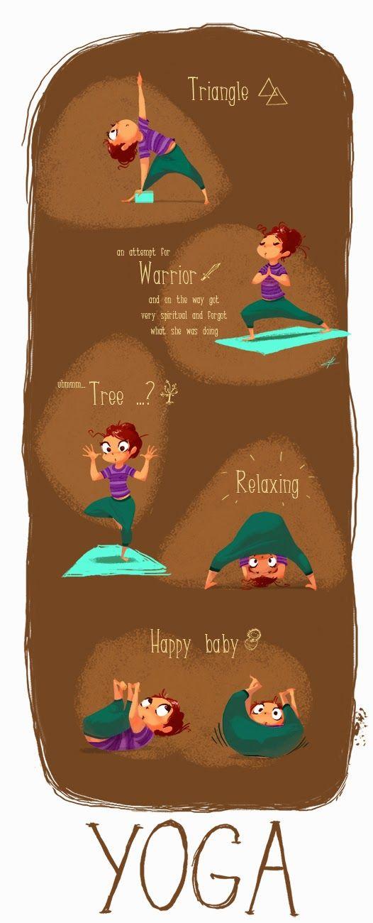 The Art Of Svetla Radivoeva: Yoga Class #illustration