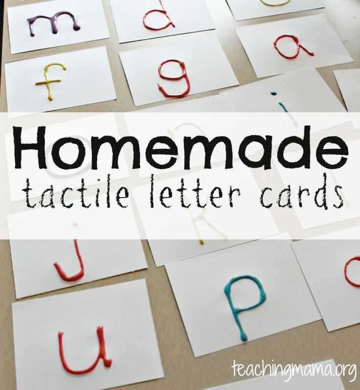 Homemade Tactile Letter Cards