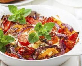 Petit gratin de courgettes, aubergine et tomate à la feta
