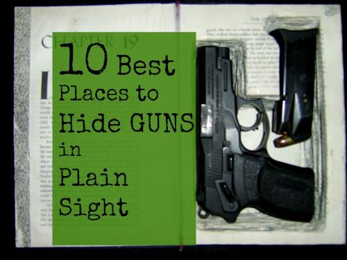 """A gun safe is a great place to hide your guns from burglars... But lets face it, burglars aren't our only concern when it comes to hiding firearms. Not to mention, you can hardly call a gun safe a place with """"ready access."""" Chances are, when you really..."""