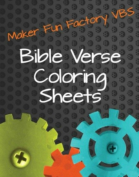 Download FREE Maker Fun Factory bible verse coloring sheets today! These are great to use as a time filler during VBS or as a send-home extra.