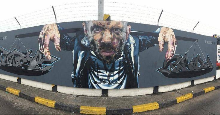 "regram @tschelovek_graffiti ""Balance"" by @tasso_maclaim  @akut_one  #RUSK in Cali Colombia for @museolibre #3rabienaldemuralismo #bienaldemuralismo #BienalCol #partisanvodka @partisanvodka. Location:Terminal de Transportes de Cali.#tasso #tasso_maclaim #maclaim#akut #herakut #rusk #graffiticali #streetartcali #calistreetart #graffiticolombia #colombiastreetart #streetartcolombia #граффити_tschelovek #streetart #urbanart #graffiti #wallart #graffitiart #artederua #arteurbana #muralart…"