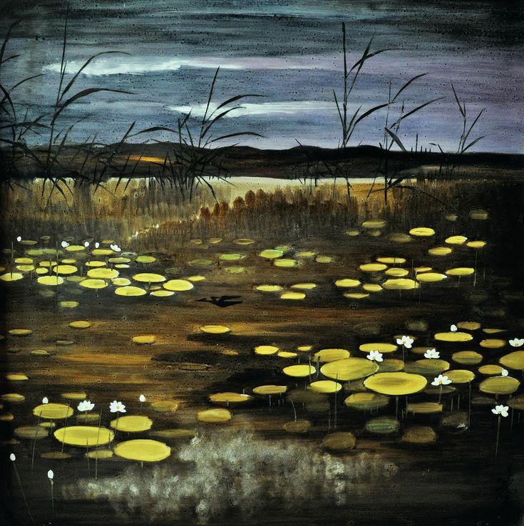 Lotus Pond - Lin Fengmian