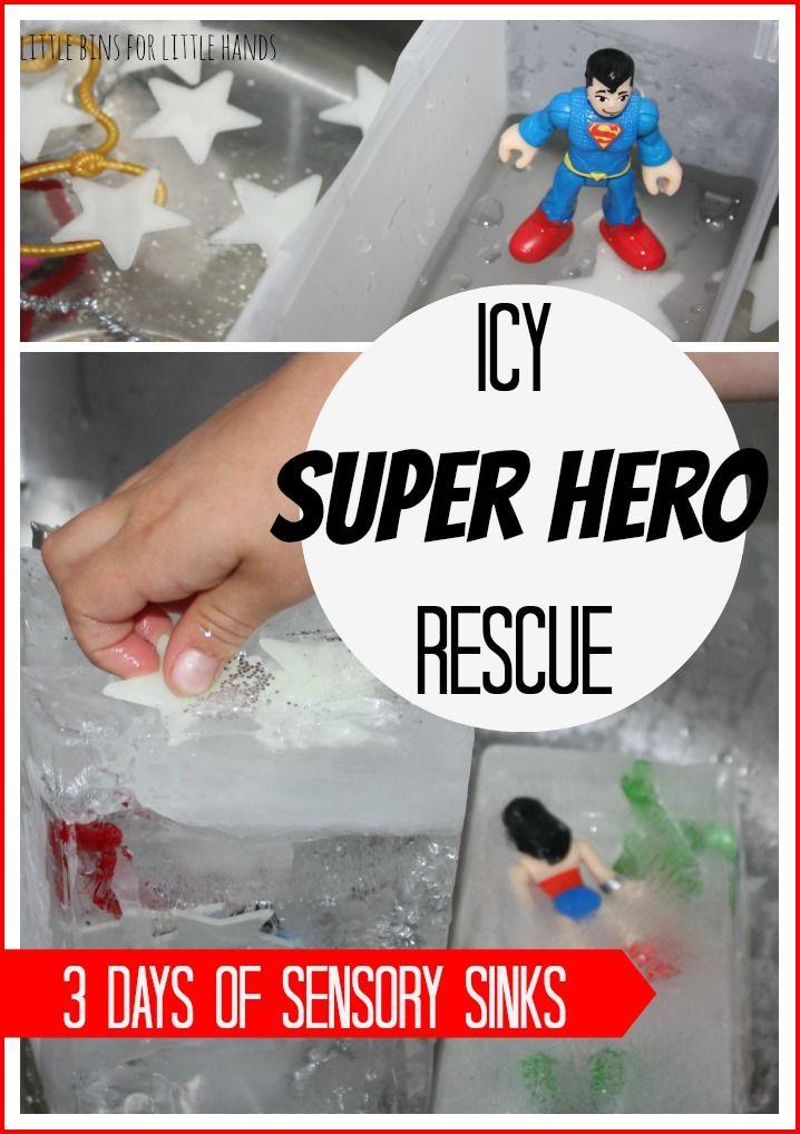 Icy Super Hero Rescue Sensory Sink