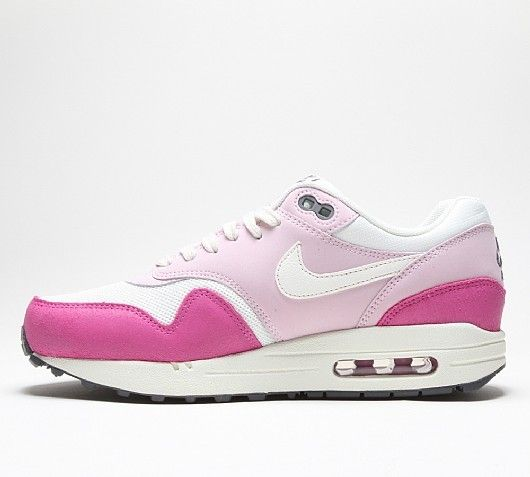 Cheap Nike Air Max 1 Womens Essential Sail/Light Pink/Hotpink/White Trainers OutletOutlet Online