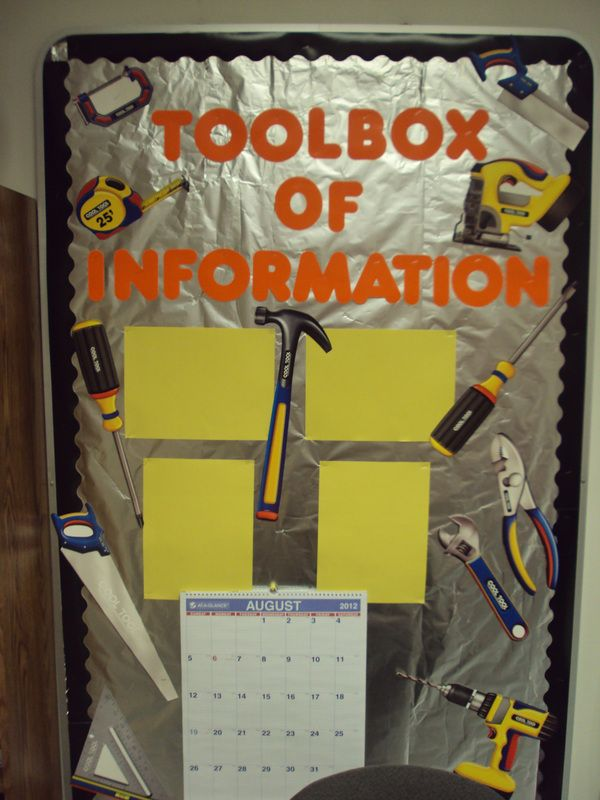 Construction Classroom Theme- Think outside the box when it comes to the backing of a bulletin board. :) Pinned by Jodi from The Clutter-Free Classroom {www.CFClassroom.com}