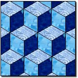 tumbling blocks free quilt block pattern