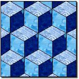 tumbling blocks free quilt block pattern