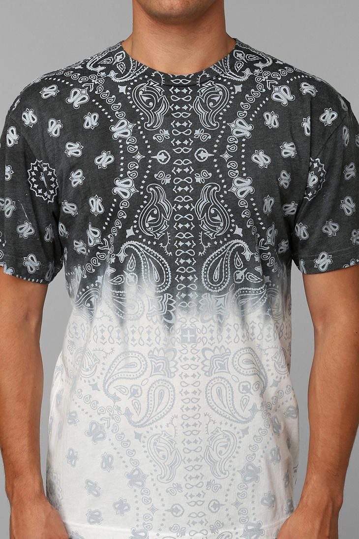 Urban Outfitters Character Hero Dipdye Bandana Tee in Black for Men