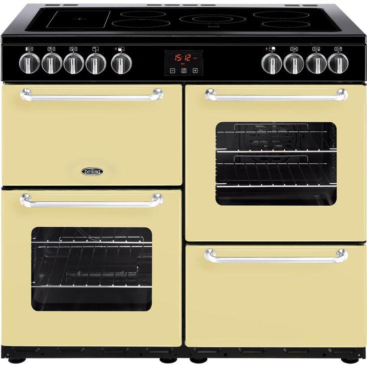 SANDRINGHAM100E_CR | Belling range cooker | cream | ao.com
