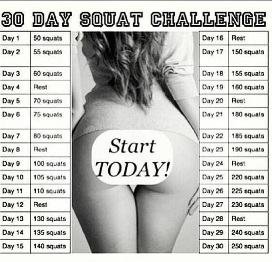 30 day squat challenge  - I only made it to day 9. This thing  kicked my butt! Time to try again.