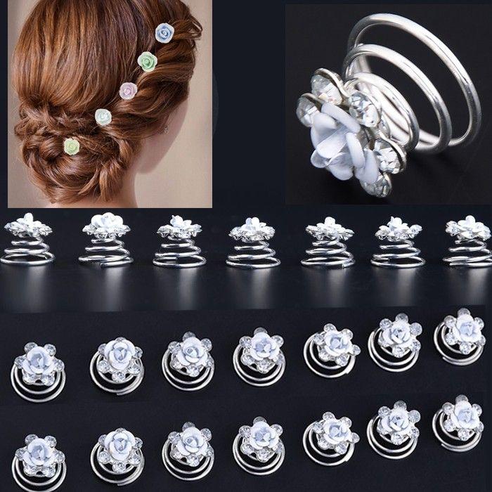 Goedkope Groothandel 20 Stks Wedding Bridal Hair Twist Spins Haarspelden Rose Bloem Crystal Bridal Haaraccessoires, koop Kwaliteit haar sieraden rechtstreeks van Leveranciers van China: merken:dank u voor begrip.als u niet tevreden met onze goederen, en een probleem voor je feedback.vergeet contact eerste