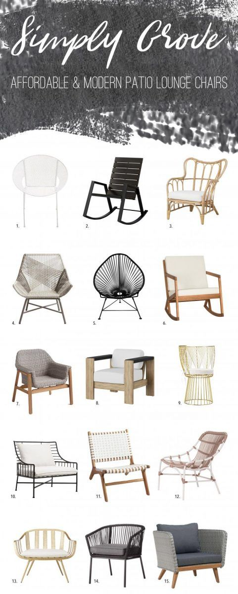 Affordable & Modern Patio Lounge Chairs to Freshen-up Your Summer Patio - Simply Grove