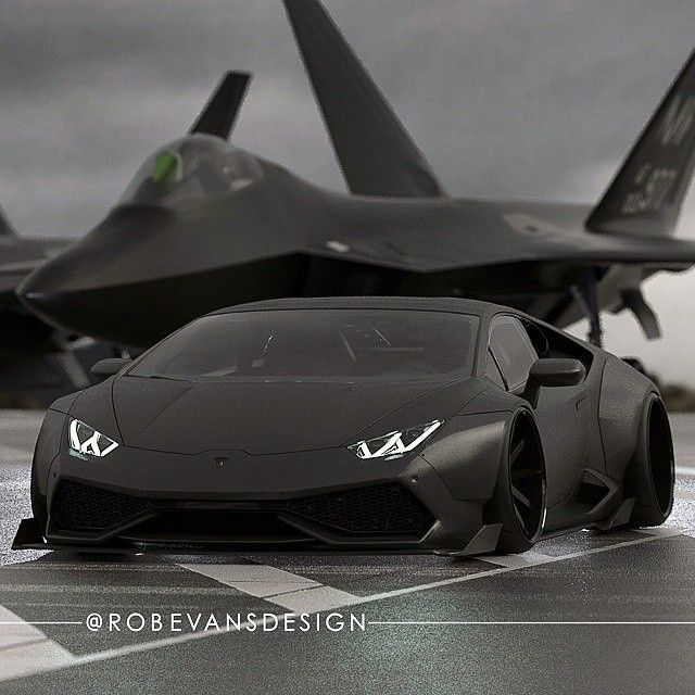 Liberty Walk inspired carbon Lamborghini Huracan by @robevansdesign #WidebodyLamborghiniHuracan