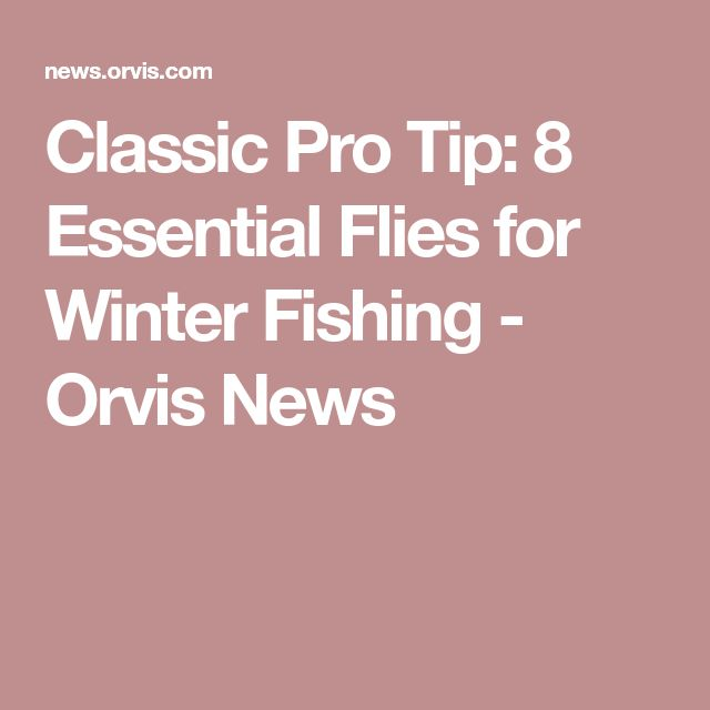 Classic Pro Tip: 8 Essential Flies for Winter Fishing - Orvis News
