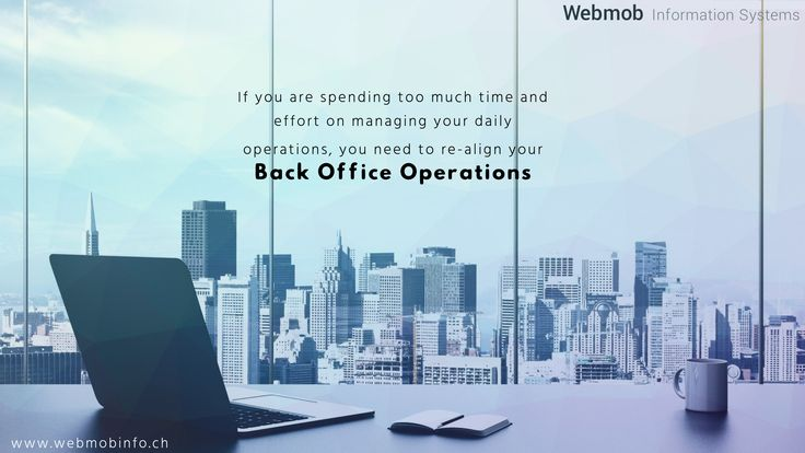 Managing everyday operations can eat up your productive time. If you are spending too much time and effort on managing your daily operations, you need to re-align your Back Office Operations: http://goo.gl/jfMmNv