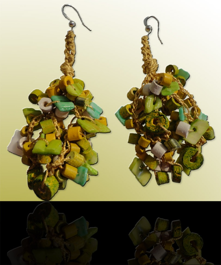 Yellow-green: Wear these handcrafted earrings by BRizzy with a feminine glamour accented the elegance.