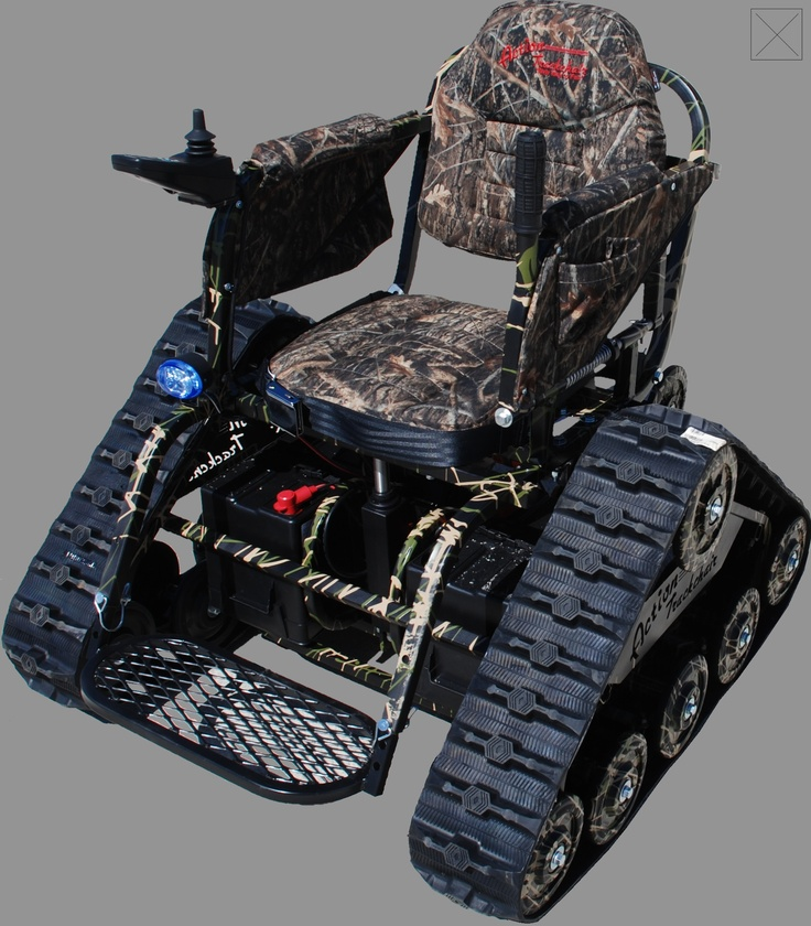 Action Track Chair All Terrain Vehicle from WoundedWarriorsInAction.ORG. Yes this is a real product.