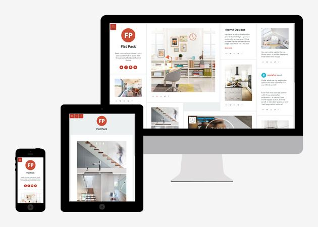 flat pack tumblr theme by precrafted.com