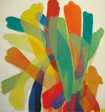"""""""Where"""" 1959 Morris Louis. Hirshhorn Museum and Sculpture Garden."""