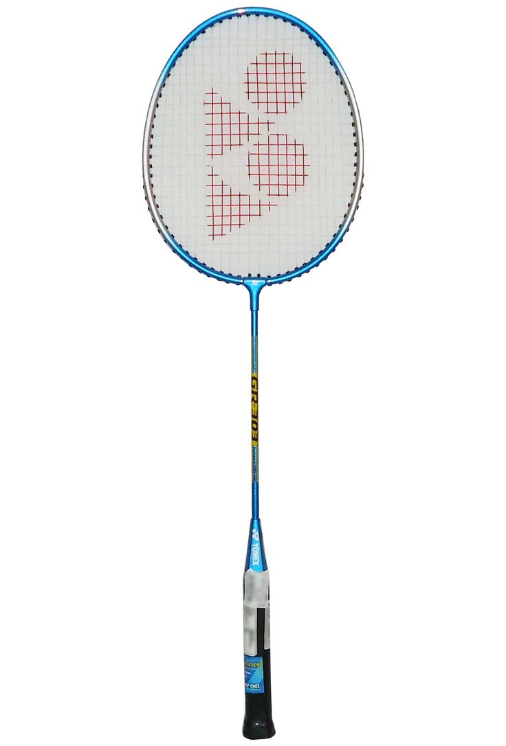 Yonex Badminton racket GR303 comes with G4 grip size, standard head shape, steel body and shaft material, damage resistant and weight of 90 GM.