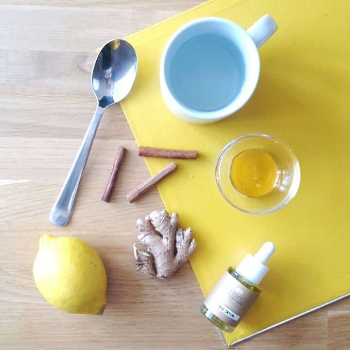 Recette tisane Bio detox. Citron et gingembre ! Yellow monday / jaune