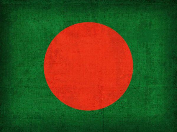 Bangladesh Flag Vintage Distressed Finish