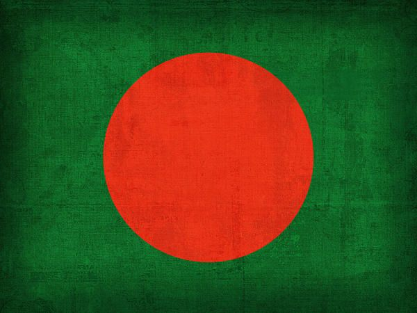 Bangladesh Flag Vintage Distressed Finish