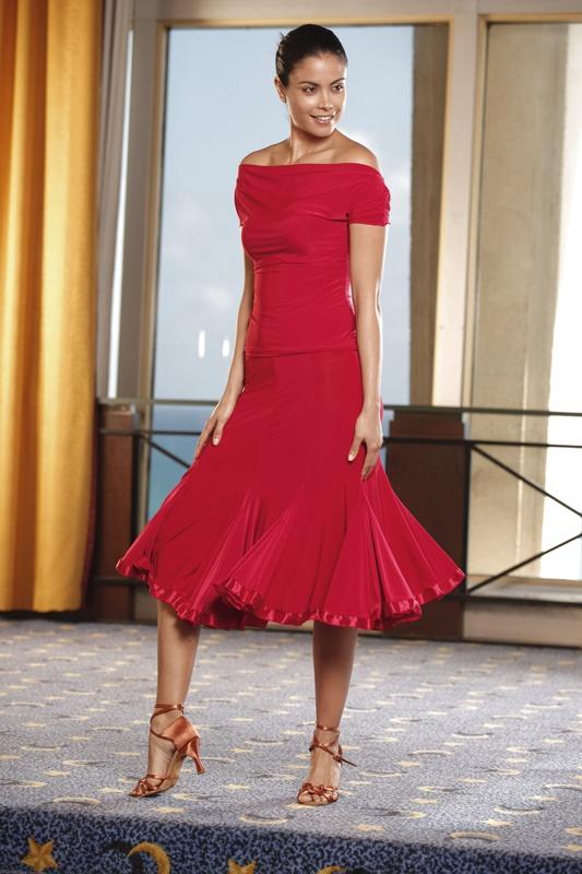 Ballroom Dancing Cap Sleeve Top with Draped Yoke :: Ballroom Dancing Shoe :: Ladies Apparel :: Tops