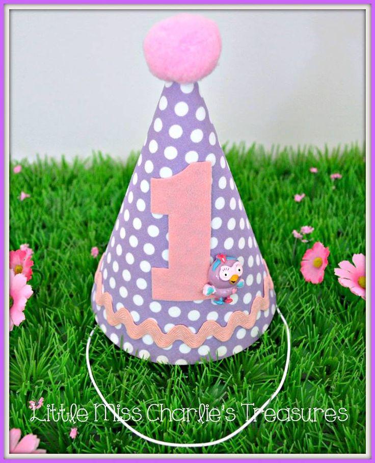 Hootabelle custom party hat - Little Miss Charlie's Treasures