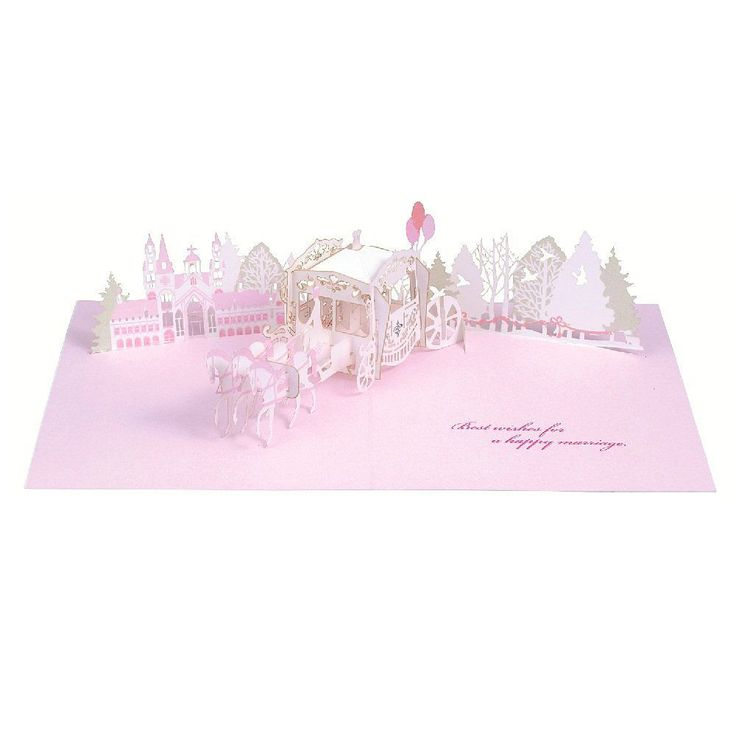 20 best wedding greeting cards images on pinterest greeting cards happy wedding laser cut carriage pop up greeting card m4hsunfo