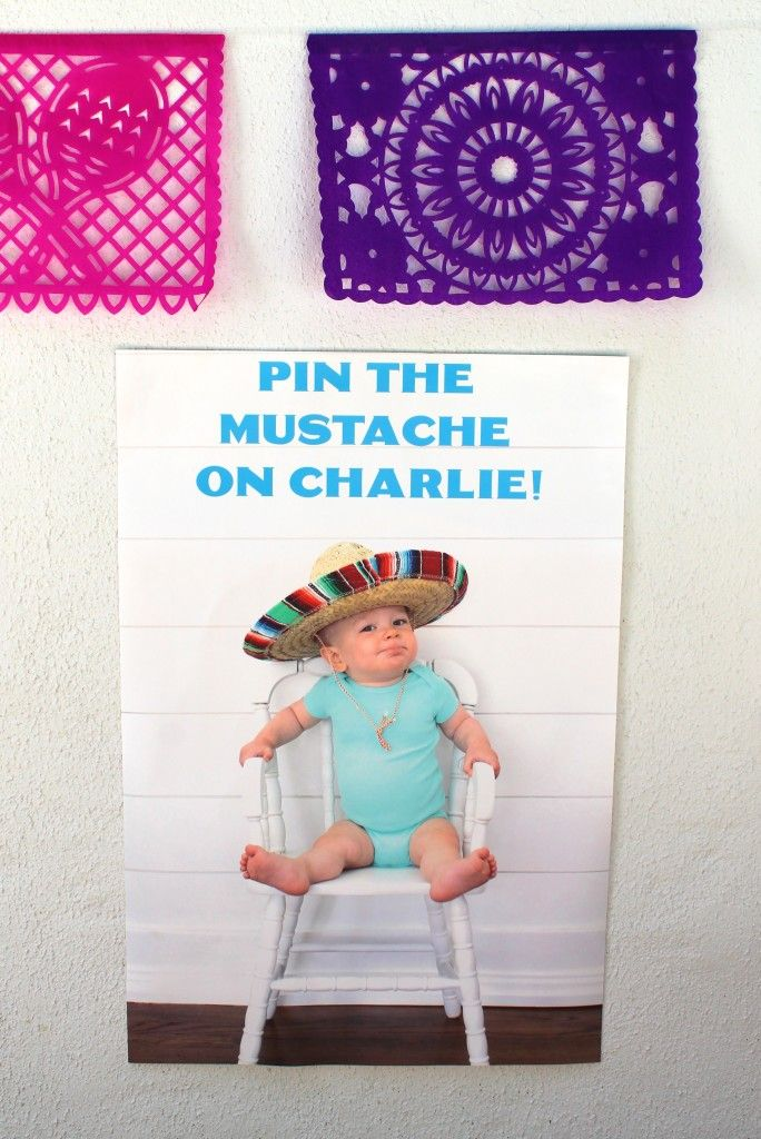 Fun take on Pin the Tail on the Donkey - perfect for a fiesta-themed party!